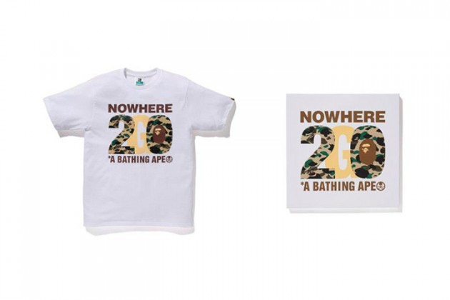 NOWHERE / A BATHING APE 20TH ANNIVERSARY COLLECTION FEATURING KANYE WEST, PHARRELL, FUTURA ETC