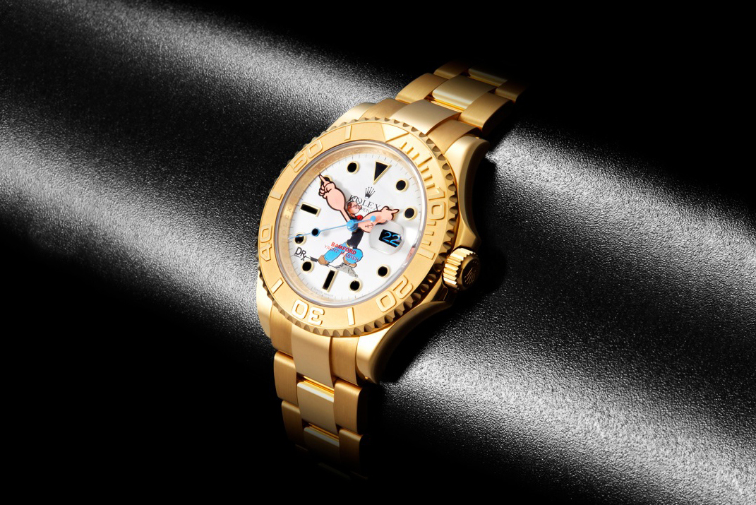 """DRxRomanelli x Bamford Watch Department Special Edition """"Popeye"""" Rolex Yachtmaster"""