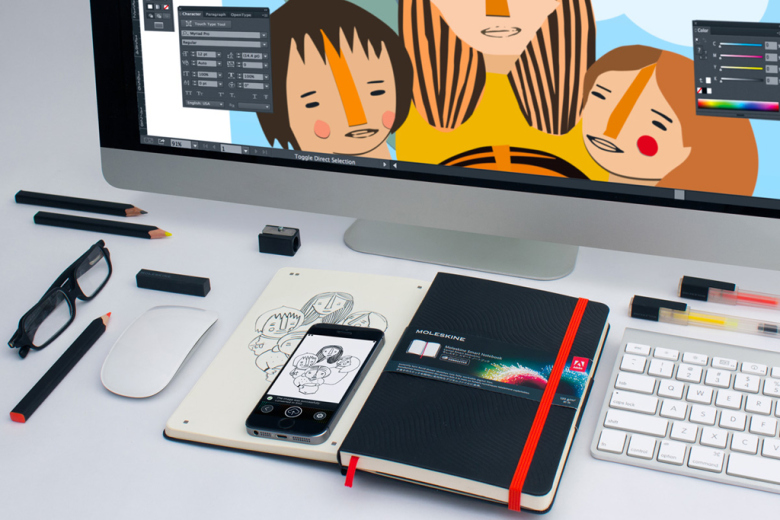 Adobe, Notebooks, Moleskin, Photoshop