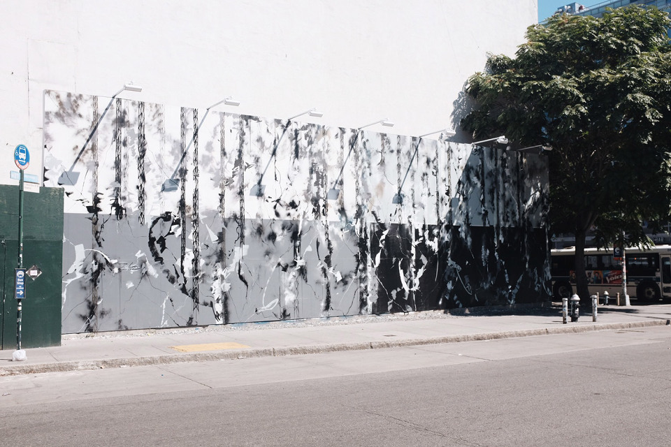 Futura Mural Underway on Houston/Bowery Wall in New York
