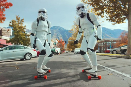 Stormtroopers Tear Through Salt Lake City on Electric Longboards