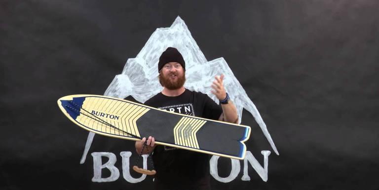 THE BURTON THROWBACK SNOWBOARD