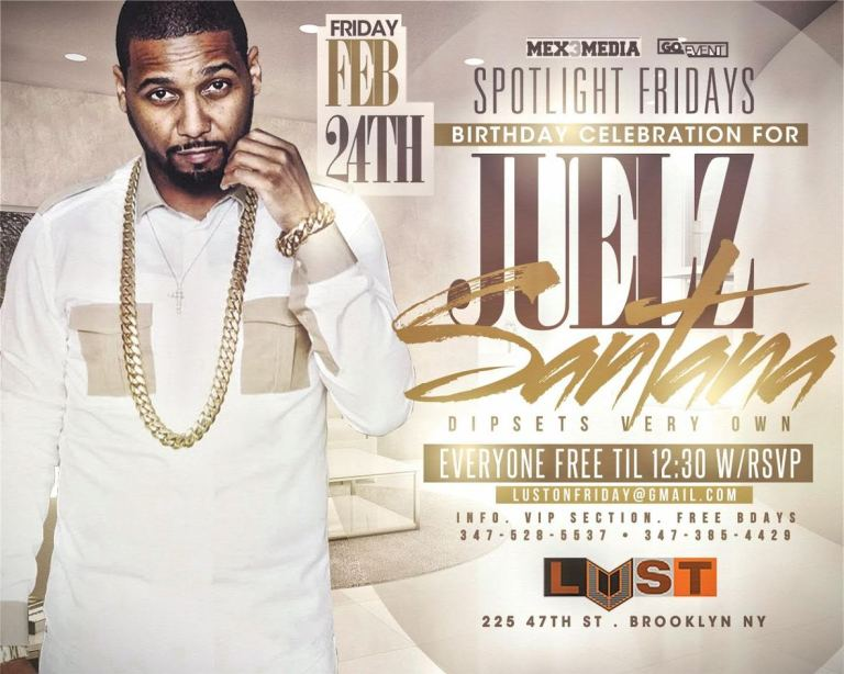 SPOTLIGHT FRIDAYS AT LUST PRESENTS JUELZ SANTANA