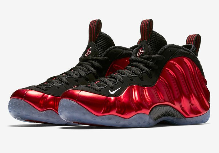 "NIKE AIR FOAMPOSITE ONE ""METALLIC RED"" GETS A DATE"