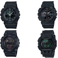 "CASIO G-SHOCK ""MILITARY BLACK"" SERIES"
