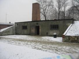 Auschwtiz I alleged gas chamber with fake chimney