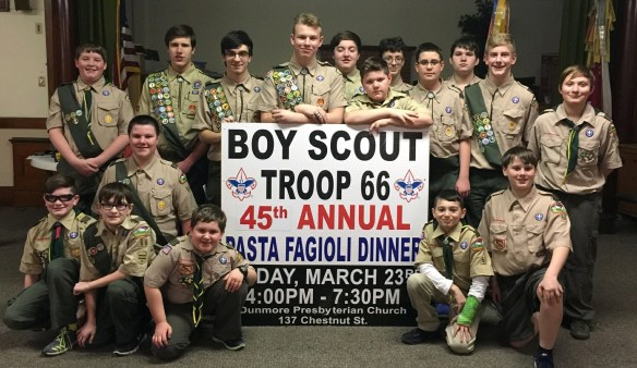 Boy Scout pasta fagioli dinner photo