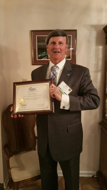 Robert J. Mancuso---PBA 40-year Award Picture with Plaque (4.5.18)
