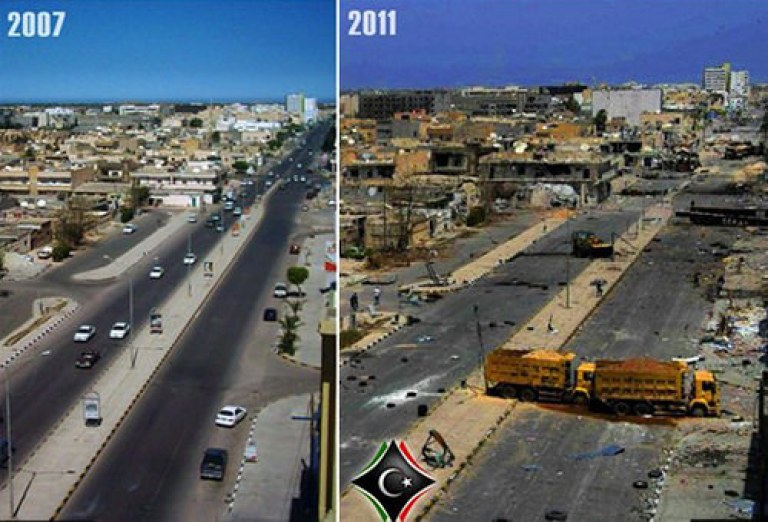 Libya - Before and After NATO aggression