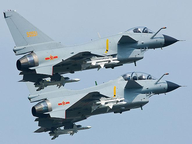 Chinese J-10 jets. Earlier this month, the US Navy sent a guided-missile destroyer near a Chinese island in the South China Sea.