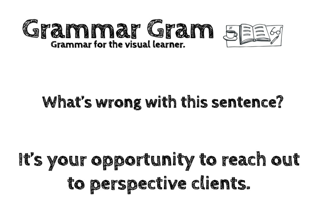 Perspective versus Prospective Grammar Gram by The Durango Wordsmith