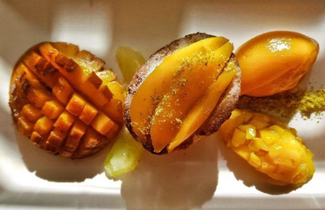 Mango and lime grand dessert