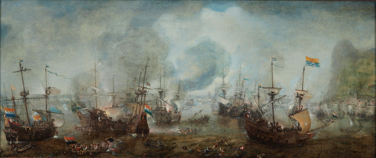 Image result for the battle of gibraltar cornelis claesz