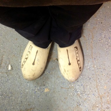 My 'company' clogs... The logo was done with pyrographics.