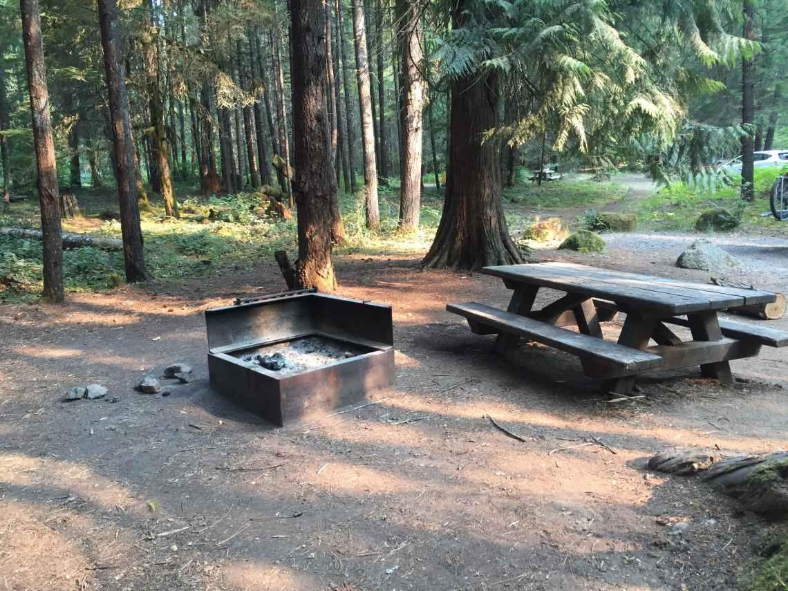 Toketee Lake Campground near umpqua hot springs