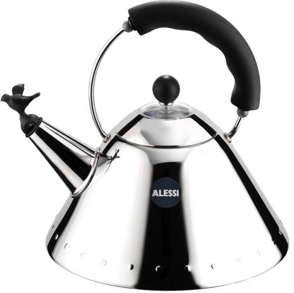 Alessi fluitketel 9093 (Kleur: zwart/zilver)