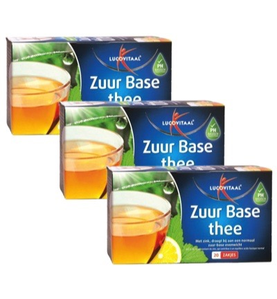 Lucovitaal Zuurbase Thee Trio (3x20st)
