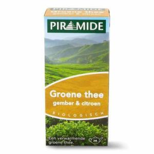 Piramide Groene thee met gember en citroen 20st