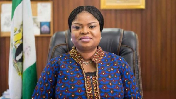 Adejoke Orelope Adefulire scaled e1591289831739 N23b traced to account of Presidency staff
