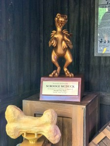 Scrooge's beautiful trophy for sponsoring Donald's Dino-Bash
