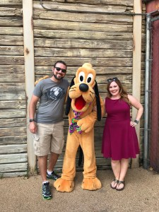Playing with Pluto in the Boneyard at Donald's Dino-Bash!