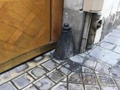 This'd stop a wagon wheel. Marais district.
