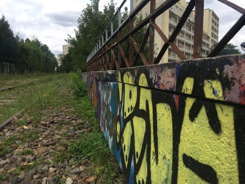More graffiti on the tracks