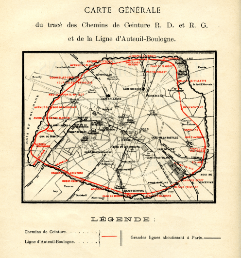 A map of the train lines in Paris. We're in the bottom right corner today.