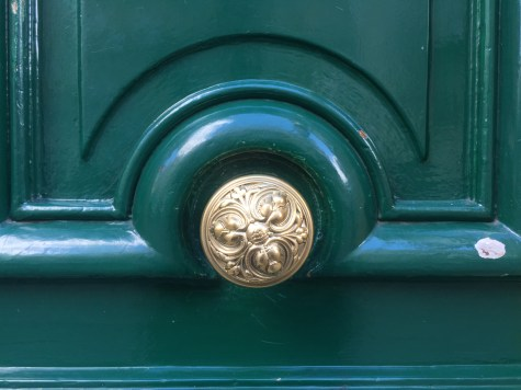 Interesting pattern on a typical door handle