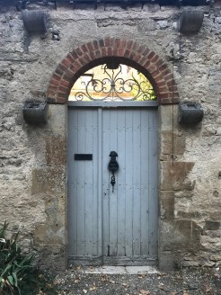 Here's a closer look at the Vezelay door, right by the cathedral.