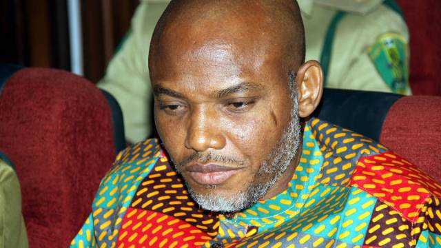 Kanu in court. (Credit: Sahara Reporters)