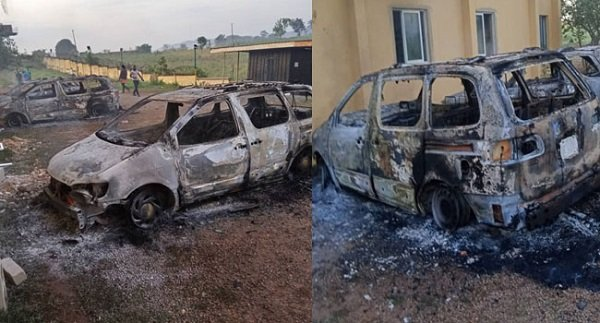 Operational vehicles destroyed by gunmen