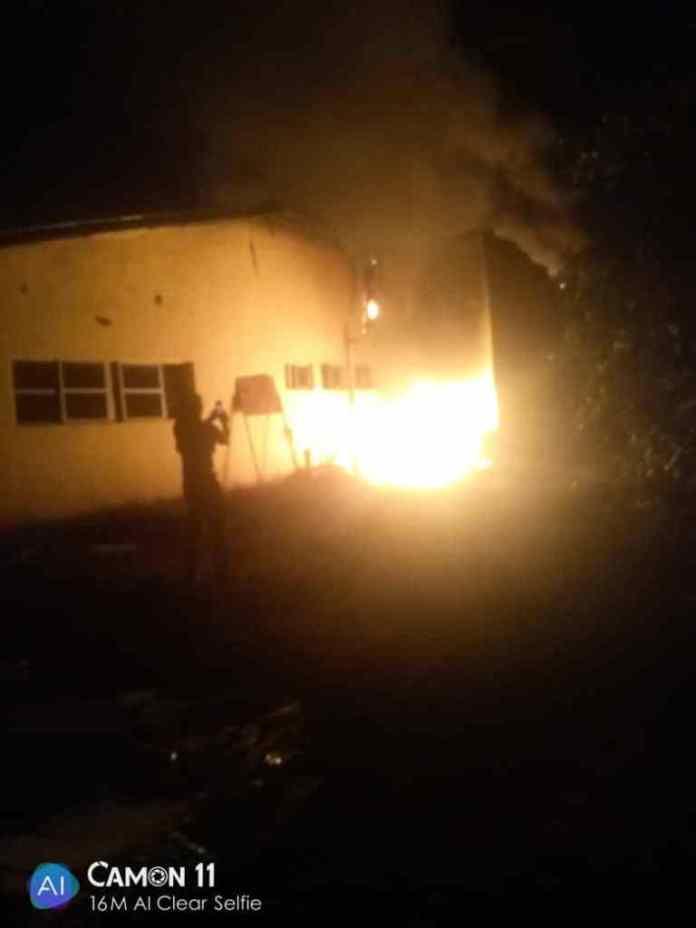 Enugu INEC office set ablaze