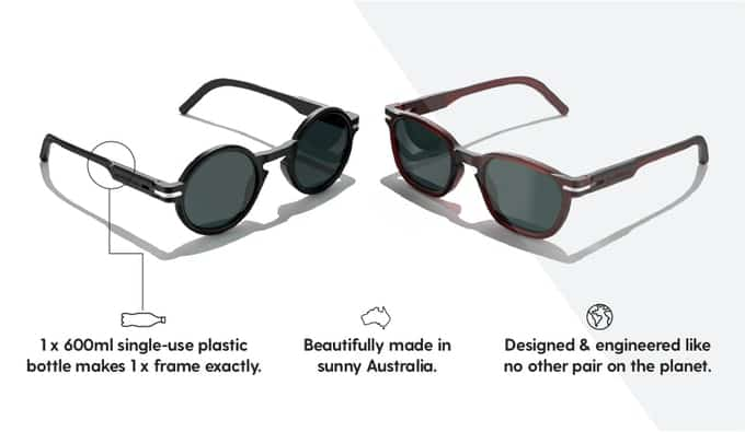 Good Citizens Sunglasses made from recycles plastic bottles