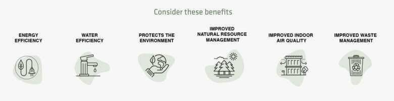 Infographic showing benefits of sustainable packaging partnership