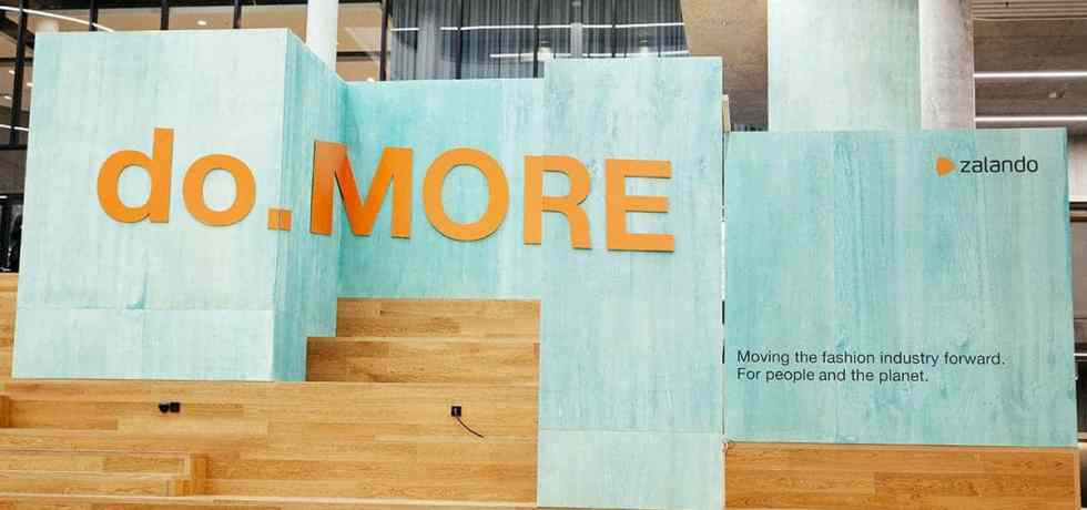 Zalando 'do MORE' Sustainability conference signs