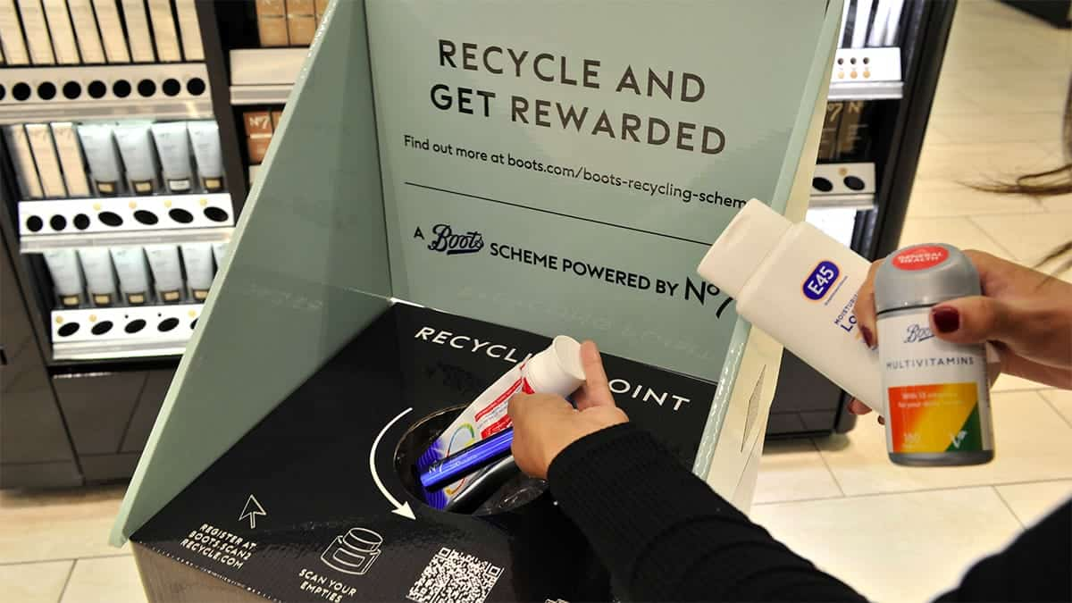 Boots Packaging Recycling Loyalty Scheme The Ecobahn