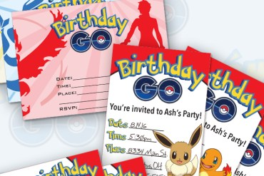 Free Printable Pokémon Go Invitations - several designs and multiple file types for your printing needs!