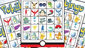 pokmon go pokbingo free printable bingo game - Free Printable Pokemon Pictures