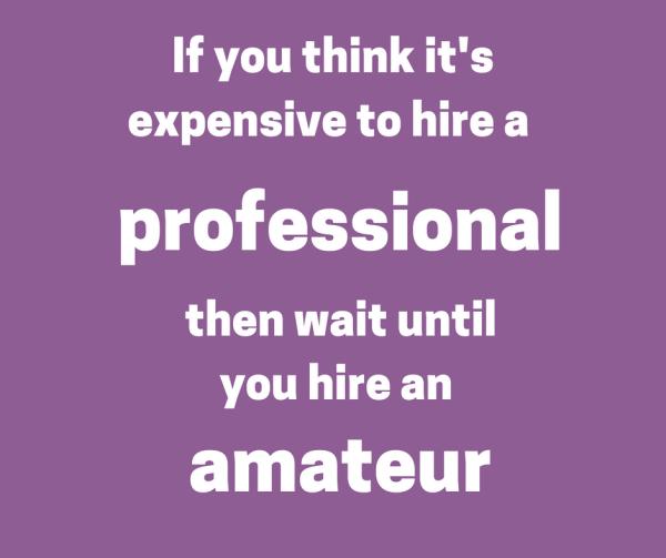 professional vs. amateur