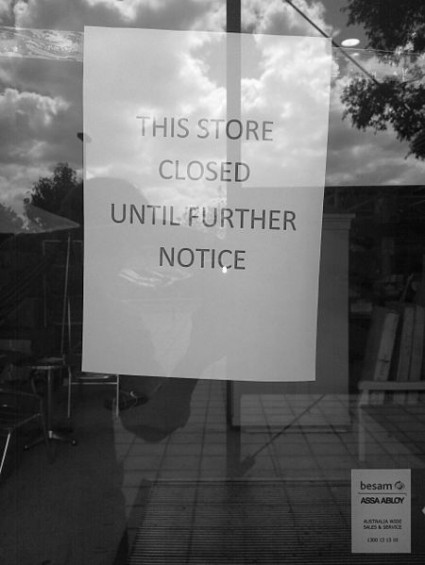 Store Closed Until Further Notice - Photo by Gryllida