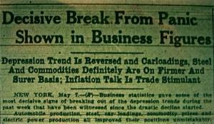 Great Depression Headlines