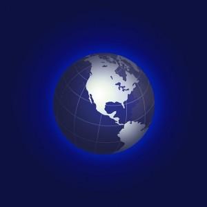 Estados Unidos Mapa En Un Globo - Dominio Público
