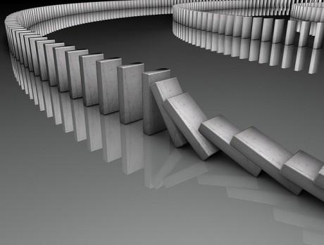 Dominoes Falling - Public Domain