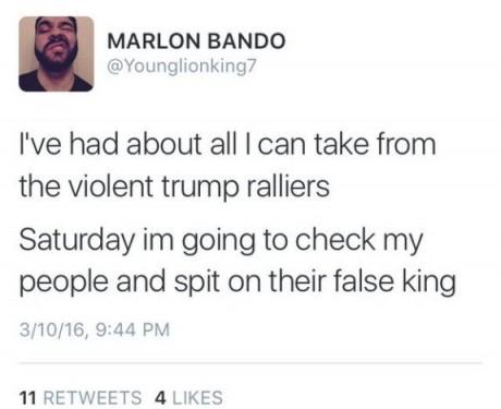 Marlon Bando Tweet