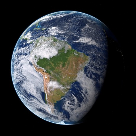 South America On The Globe - Public Domain