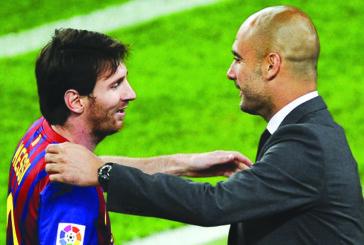 Guardiola in Barcelona to negotiate Messi move