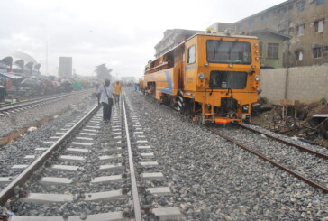 Ongoing railway construction work by the Federal Government along Ebute Meta, Yaba in Lagos