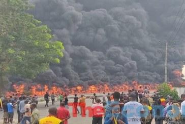 BREAKING: Tanker explosion at Apapa-Oshodi Expressway