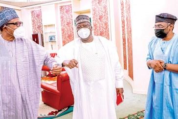 Buhari meets Lawan, Gbajabiamila over supplementary budget